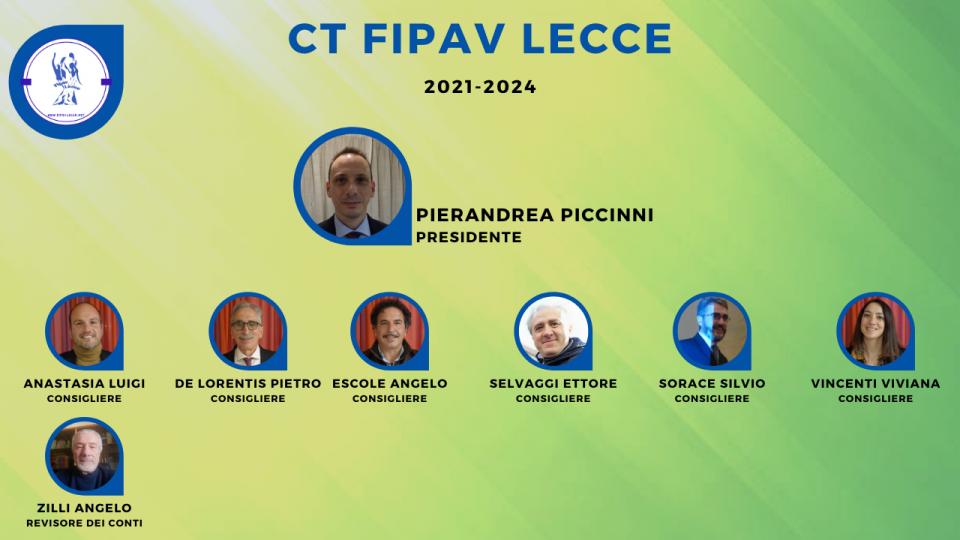 Pierandrea Piccinni bissa il suo mandato di presidente Fipav di Lecce