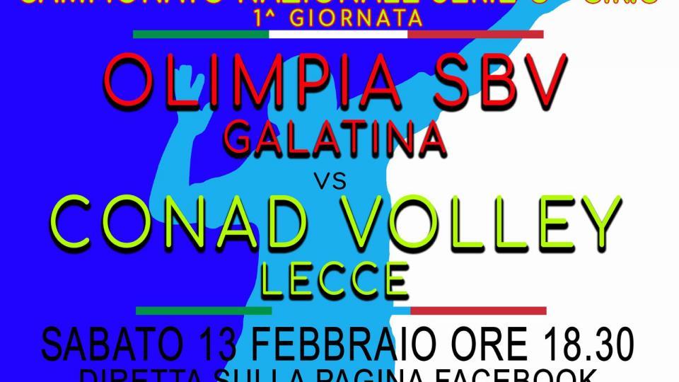 Parte il campionato di serie C con Olimpia Sbv Galatina che ospita il  Lecce Volley